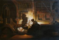 La sacra famiglia di Rembrandt