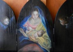 Trittico Madonna con Gesù